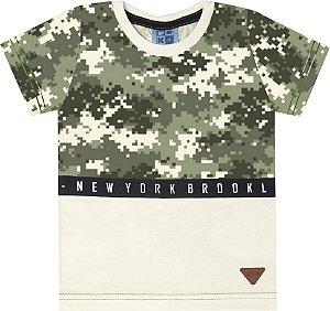 Camiseta Infantil Menino New York  Bege