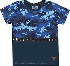Camiseta Infantil Menino New York Azul
