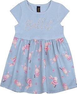 Vestido Bebê Menina Ballet Azul