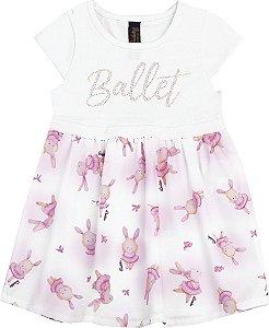 Vestido Bebê Menina Ballet Branco