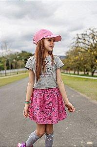Cojunto Infantil Menina Happy Mescla