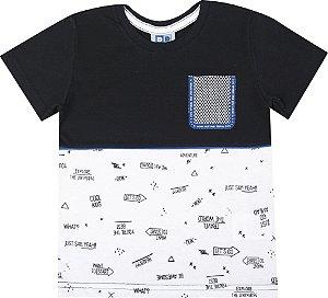 Camiseta Infantil Menino com Bolso Preto