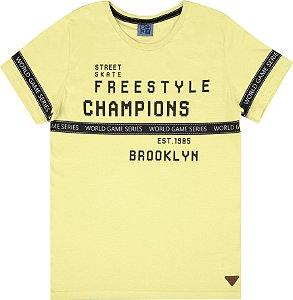 Camiseta Infantil Menino Freestyle Amarelo