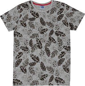 Camiseta Infantil Menino Folhas Mescla