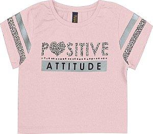 Blusa Infantil Menina Positive Rosa