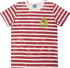 Camiseta Infantil Menino Listrada Mescla