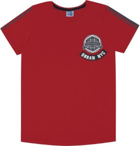 Camiseta Infantil Menino Urban NY Vermelho
