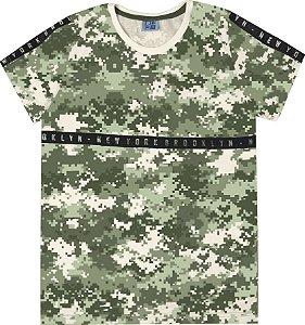 Camiseta Juvenil Menino Verde
