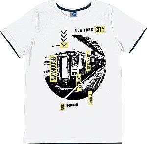 Camiseta Juvenil Menino New York Branco