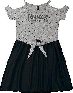 Vestido Juvenil Menina Positive Mescla