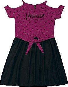 Vestido Juvenil Menina Positive Rosa