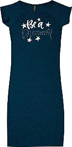 Vestido Juvenil Menina Estrela Azul