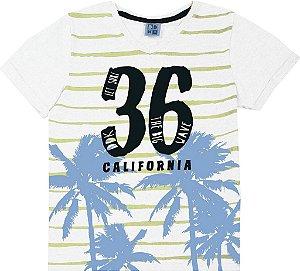 Camiseta Juvenil Menino California Branco