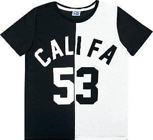 Camiseta Juvenil Menino Califa Preto