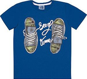 Camiseta Infantil Menino Tênis Azul