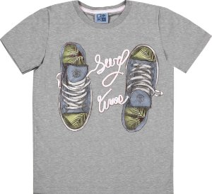 Camiseta Infantil Menino Tênis Mescla