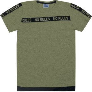 Camiseta Infantil Menino No Rules Verde