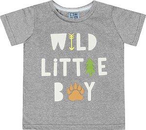 Camiseta Bebê Menino Wild Little Boy Mescla