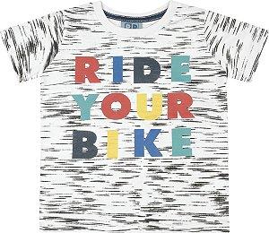Camiseta Bebê Menino Ride Your Bike Branco