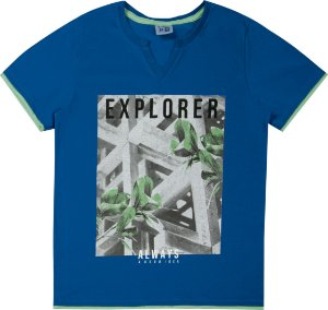 Camiseta Juvenil Menino Explorer Azul