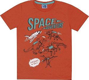 Camiseta Infantil Menino Space Laranja