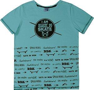 Camiseta Juvenil Menino Skate Verde