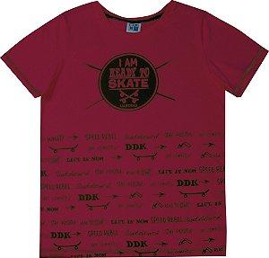 Camiseta Juvenil Menino Skate Vermelho