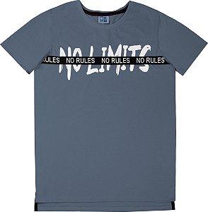 Camiseta Juvenil Menino No Limits Azul