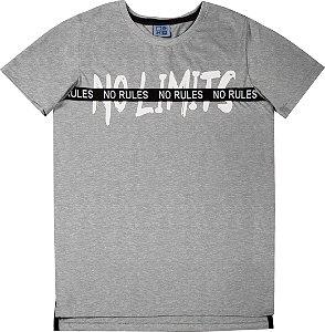 Camiseta Juvenil Menino No Limits Mescla