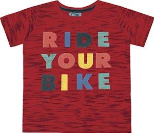 Camiseta Bebê Menino Ride Your Bike Vermelho