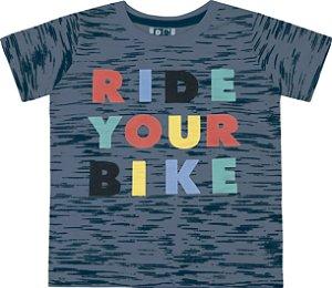 Camiseta Bebê Menino Ride Your Bike Azul