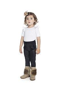Calça Legging Infantil Menina Preto