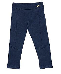 Calça Infantil Menina Lisa Azul