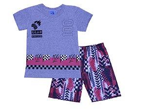Conjunto de Camiseta e Bermuda estampada Mescla