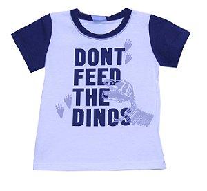 Camiseta Infantil Menino Dinos Bege