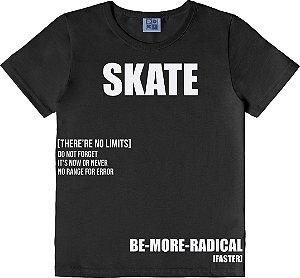 Camiseta Infantil Menino SKATE Preto