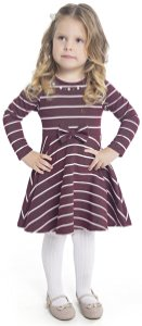 Vestido Infantil Menina Laço Roxo