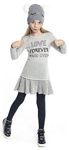Vestido Infantil Menina Love Mescla