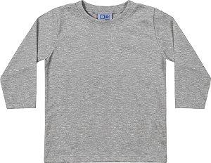 Camiseta Manga Longa Infantil Meninos Mescla