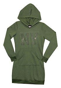 Vestido Juvenil Menina NY  Verde