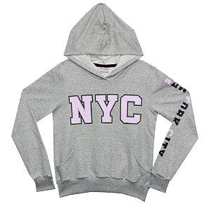 Blusão Juvenil Menina NYC Mescla