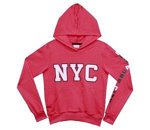Blusão Juvenil Menina NYC Melancia