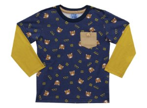 Camiseta Bebê Menino Urso Azul