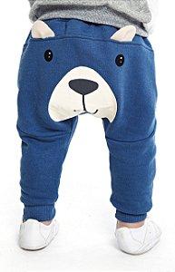 Calça Bebê Menino Urso Azul