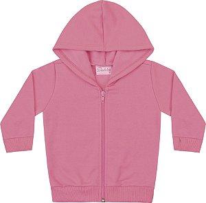 Jaqueta Em Moletom Peluciado Rosa