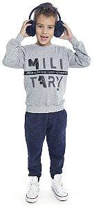 Blusão Infantil Menino Military Mescla