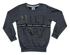 Blusão Infantil Menino Military Mescla Escuro