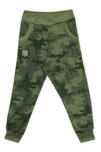 Calça Infantil Menino Militar Verde Militar