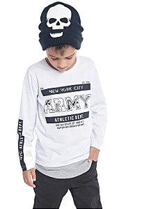 Camiseta Infantil Menino Army Branco