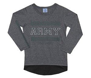 Camiseta Infantil Menino Army Mescla Escuro